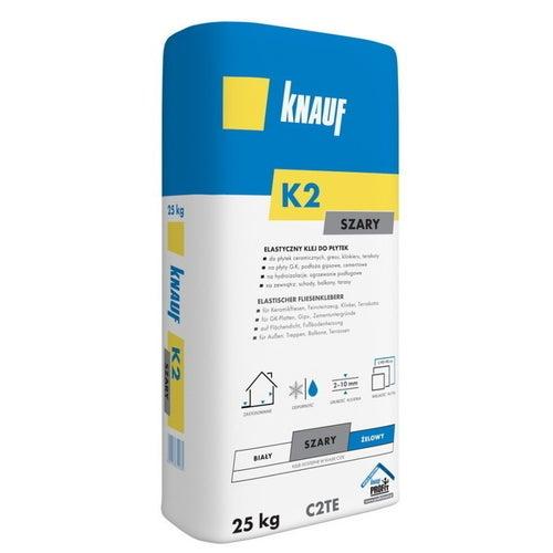 Klej do płytek elastyczny Knauf K2 szary 25 kg