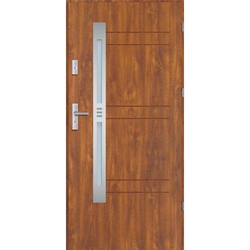 Drzwi wejściowe Vesta 90 cm, prawe, złoty dąb