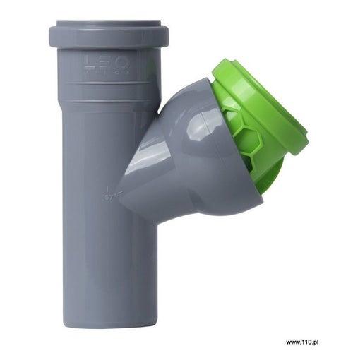 Trójnik kanalizacyjny nastawny 50 mm z uszczelką