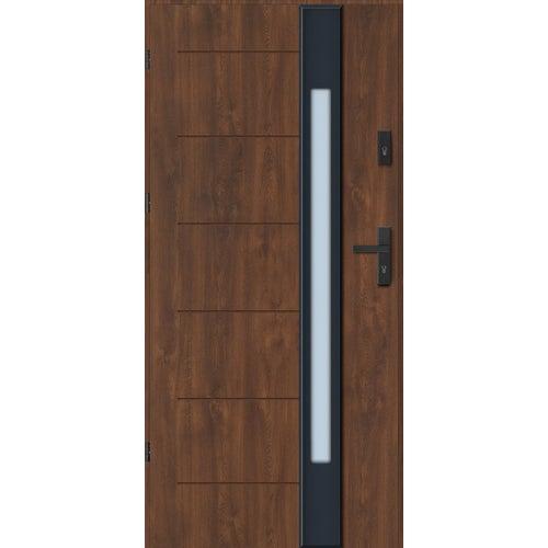 Drzwi zewnętrzne Lugano Nero 90 cm, lewe, orzech