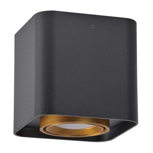 Oprawa sufitowa punktowa EGER kwadrat 10W GU10 IP20 czarno-złota
