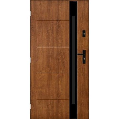 Drzwi zewnętrzne przeszklone Rzym 90 cm prawe złoty dąb
