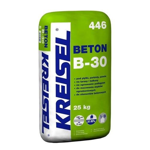 Zaprawa cementowa Beton B-30 Kreisel 446 25 kg, podkład podłogowy, 25-100 mm