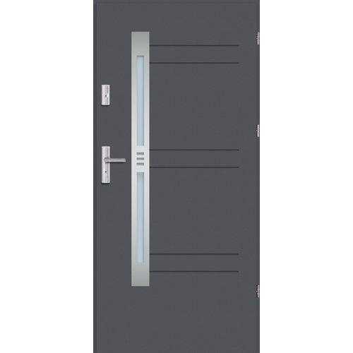 Drzwi wejściowe Nordica 3 90 cm, prawe, antracyt