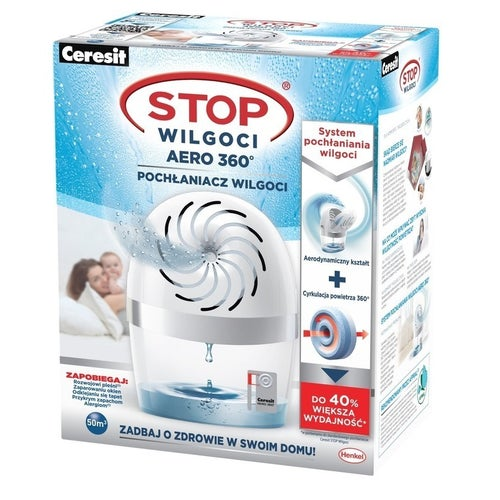 Pochłaniacz wilgoci Ceresit Stop Wilgoci Aero 360° biały