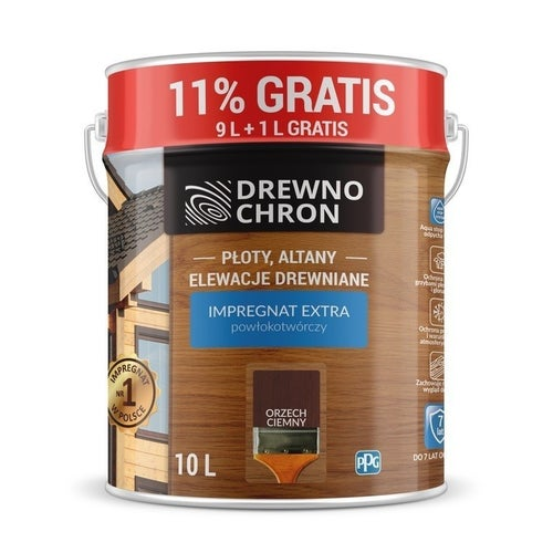 Impregnat Drewnochron Extra orzech ciemny 9+11%l