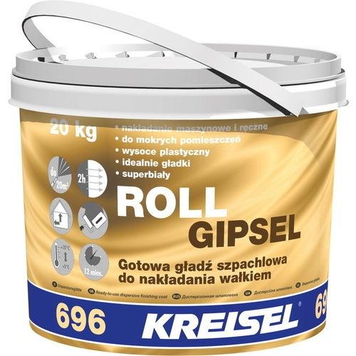 Gładź szpachlowa Kreisel Roll Gipsel 696 20 kg, śnieżnobiała
