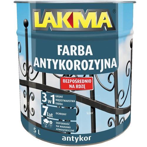Farba antykorozyjna Antykor Lakma czarny 5l