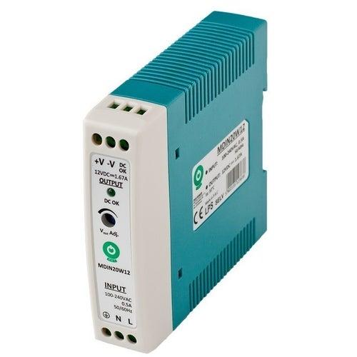 Zasilacz LED 20W 12V na szynę TH35