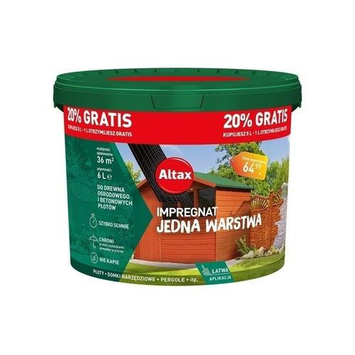 Impregnat ogrodowy Altax brąz 6l