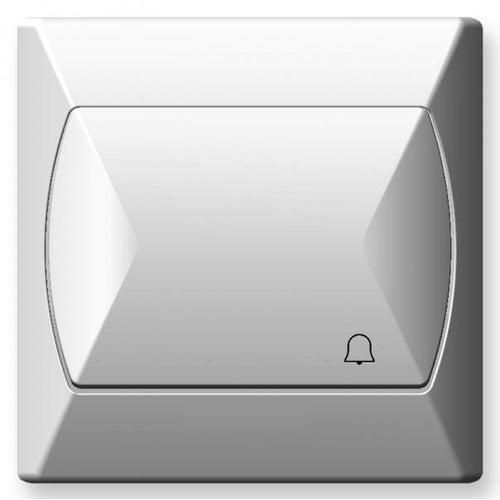 Ospel Akcent biały przycisk dzwonka