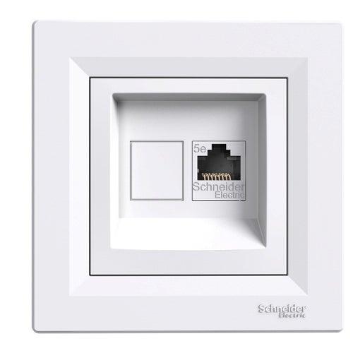 Schneider Asfora biały gniazdo komputerowe 1xRJ45 kat 5