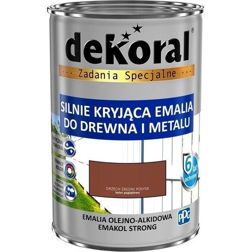 Emalia olejno-alkidowa Dekoral Emakol Strong orzech średni 0,9l