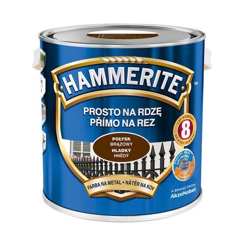 Farba Hammerite połysk brązowy 2,5l