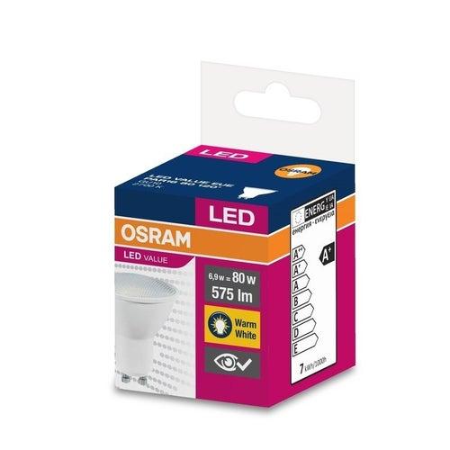Żarówka LED 6,9W GU10 575lm 120st ciepło biała/2700K Osram