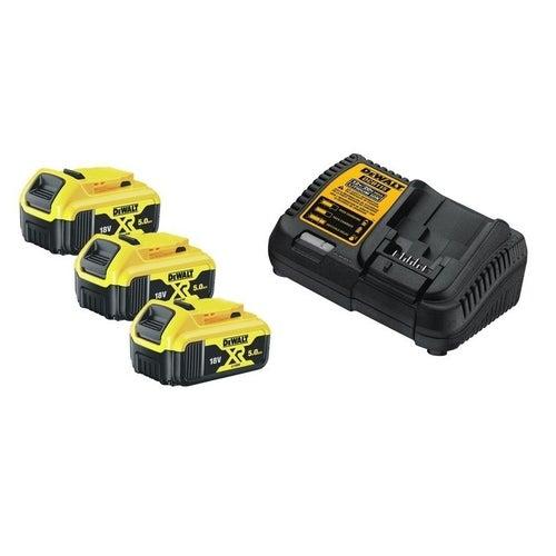 Zestaw akumulatorów 18V: 3 x 5Ah + ładowarka DCB115P3 DeWalt