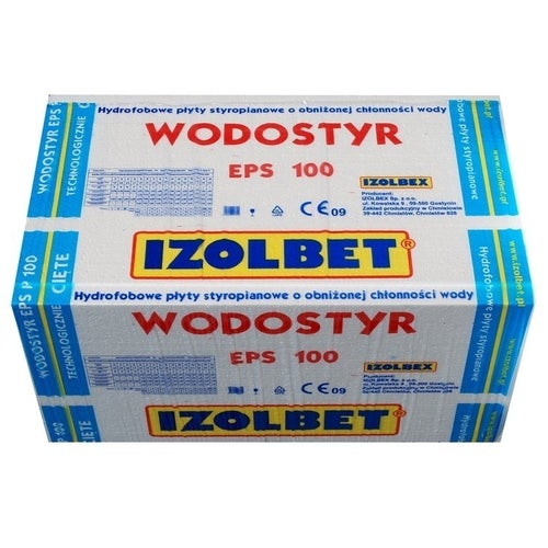 Styropian hydrofobowy Izolbet Wodostyr 10 cm EPS 100 kPa 0,036 W/(mK) 4,32 m2