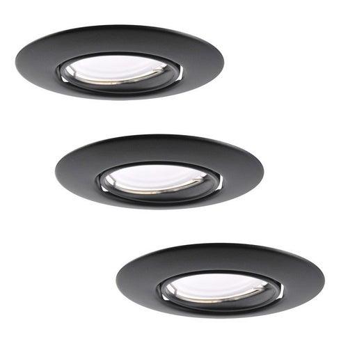 Zestaw oczek sufitowych Olin 3xGU10 + LED 3,5W 250lm 3000K IP20 czarny