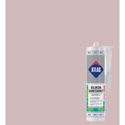 Silikon sanitarny Atlas 019 jasnobeżowy 280 ml