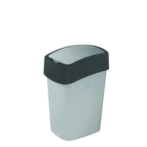 Kosz na śmieci FlIP BIN 10 l srebrny/grafitowy
