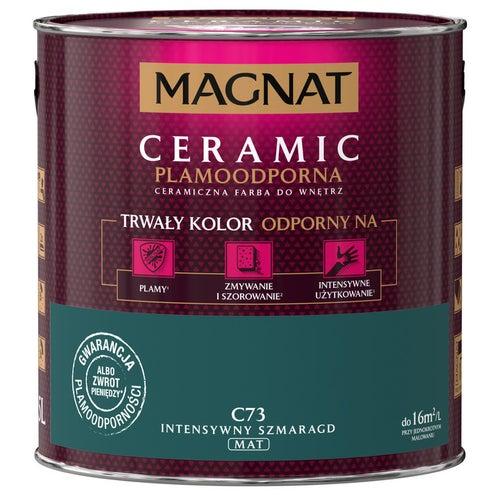 Farba Magnat Ceramic intensywny szmaragd 2,5l