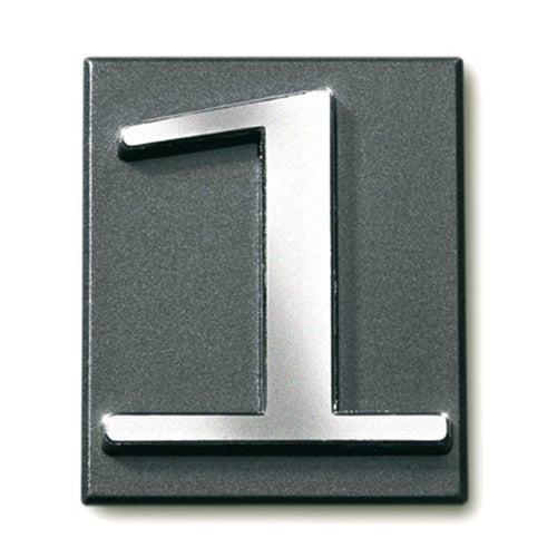 Cyfra 1 samoprzylepna grafit 4x4.7 cm