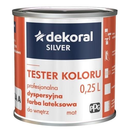 Farba dyspersyjna Dekoral Silver tester baza A 0,2 l