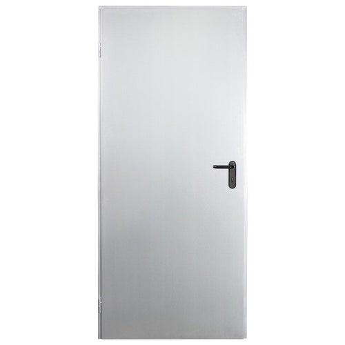 Drzwi techniczne Zk 80 cm, lewe, ocynkowane