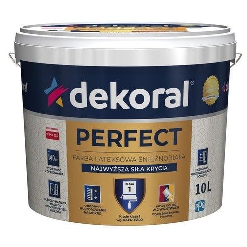 Farba Dekoral Perfect biała 10l