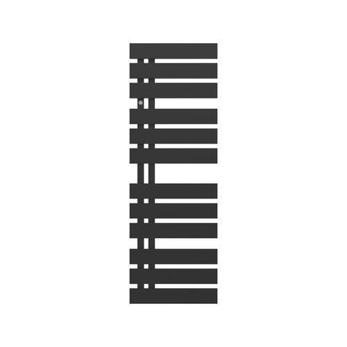 Grzejnik łazienkowy Nameless 120x40 cm, czarny matowy