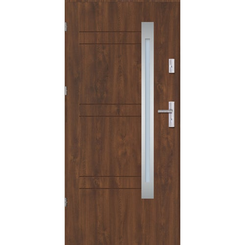 Drzwi zewnętrzne Nordica1 80 lewe orzech