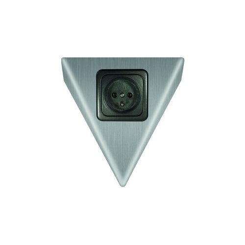 Gniazdo meblowe pojedyncz z uziemnieniem trójkątne