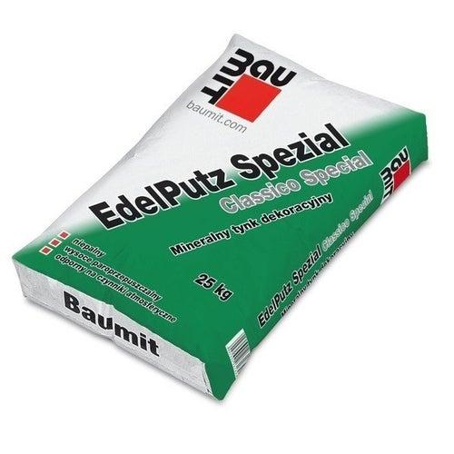 Tynk elewacyjny mineralny Baumit Edel Putz Special 25 kg, biały, 2 mm
