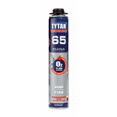 Piana poliuretanowa montażowa Tytan 65 750 ml, pistoletowa