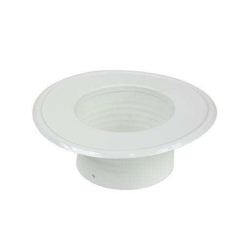 Rozeta stalowa fi 100 mm, biała