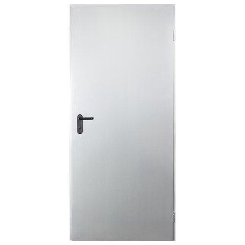 Drzwi techniczne Zk 90 cm, prawe, ocynkowane
