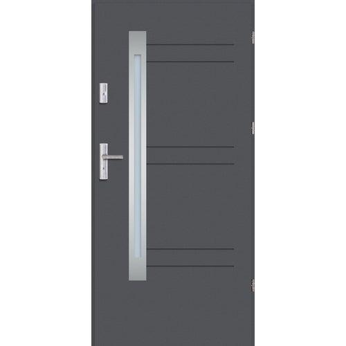 Drzwi wejściowe Nordica 80 prawe antracyt