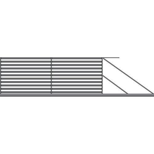 Brama przesuwna Inka antracyt, 150x400 cm, prawa, z automatem do bram