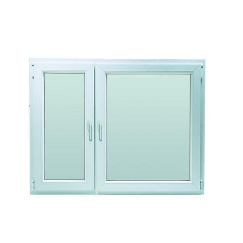 Okno fasadowe 2-szybowe  PCV O18 rozwierno-uchylne + rozwierne asymetryczne prawe 1465x1135 mm białe