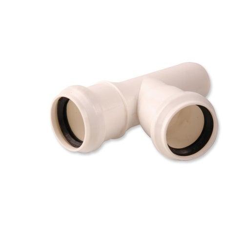 Trójnik kanalizacyjny 67° 40 mm z uszczelką