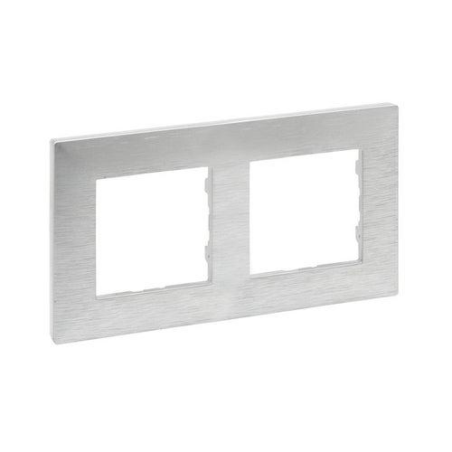 Niloe Step ramka aluminium szczotkowane podwójna