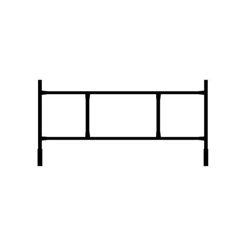 Rama konstrukcyjna rusztowania, 160 x 82 cm, Polbram,typ: warszawskie