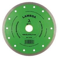 Tarcza diamentowa ryflowana 180x25,4/22,2 mm LAMBDA